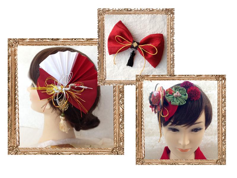 マリエフルリールの髪飾り 赤