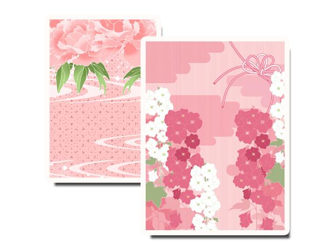 ピンク色の打掛写真