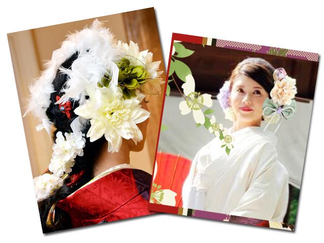 マリエフルリールの花嫁の華やかな髪飾りの写真