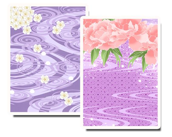 紫色の打掛写真
