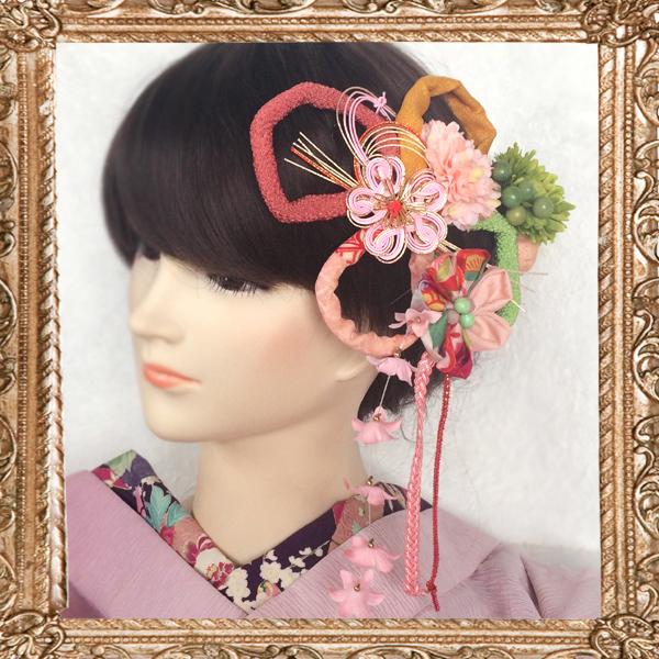 和装 髪飾り 成人式 大正ロマンな乙女の嫁入り はんなりお花細工セット