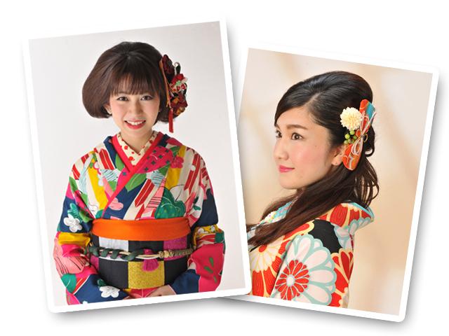 成人式髪飾りのモデル