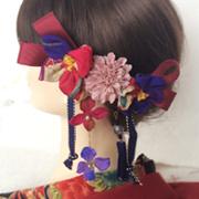 成人式の髪飾りは個性派で!!周りから視線集中の個性派髪飾り