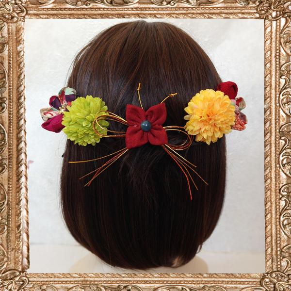 和装 髪飾り 成人式 はいからさんが恋する乙女の飾りC