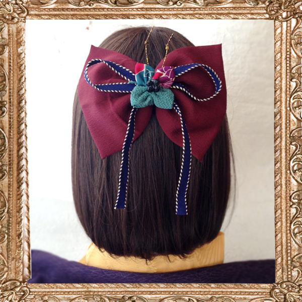 ショート ボブ 卒業式 髪飾り