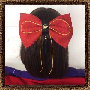 卒業式 袴 髪飾り 赤リボン