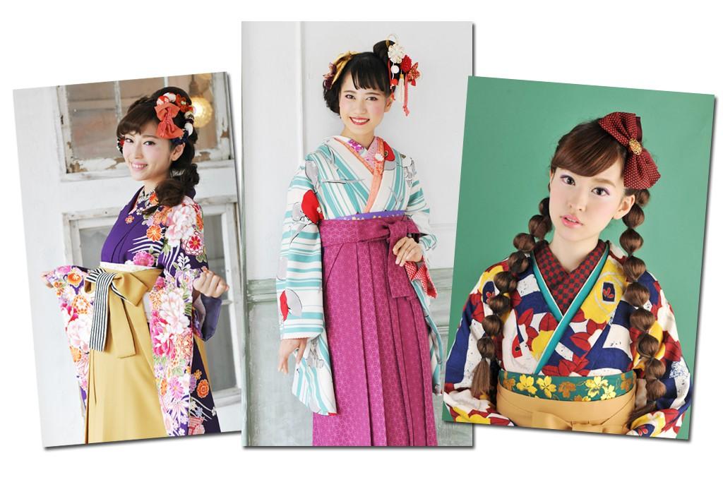 袴の女性たちの画像