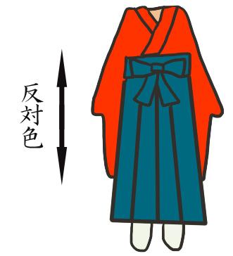 対比補色の袴イメージ写真