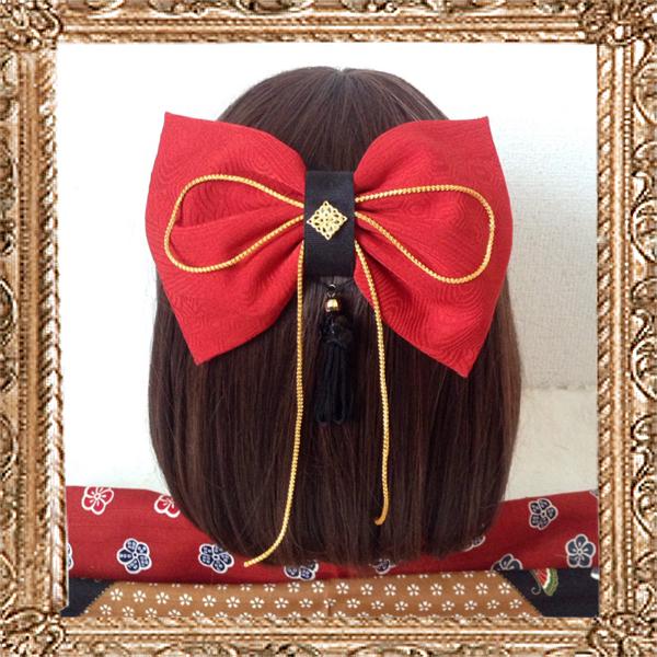和装 髪飾り 大正ロマン はいからさんが恋する赤リボン