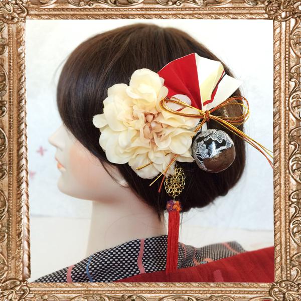 和装 髪飾り 結婚式(和婚)大正ロマン レトロモダンなハイカラ和細工飾り