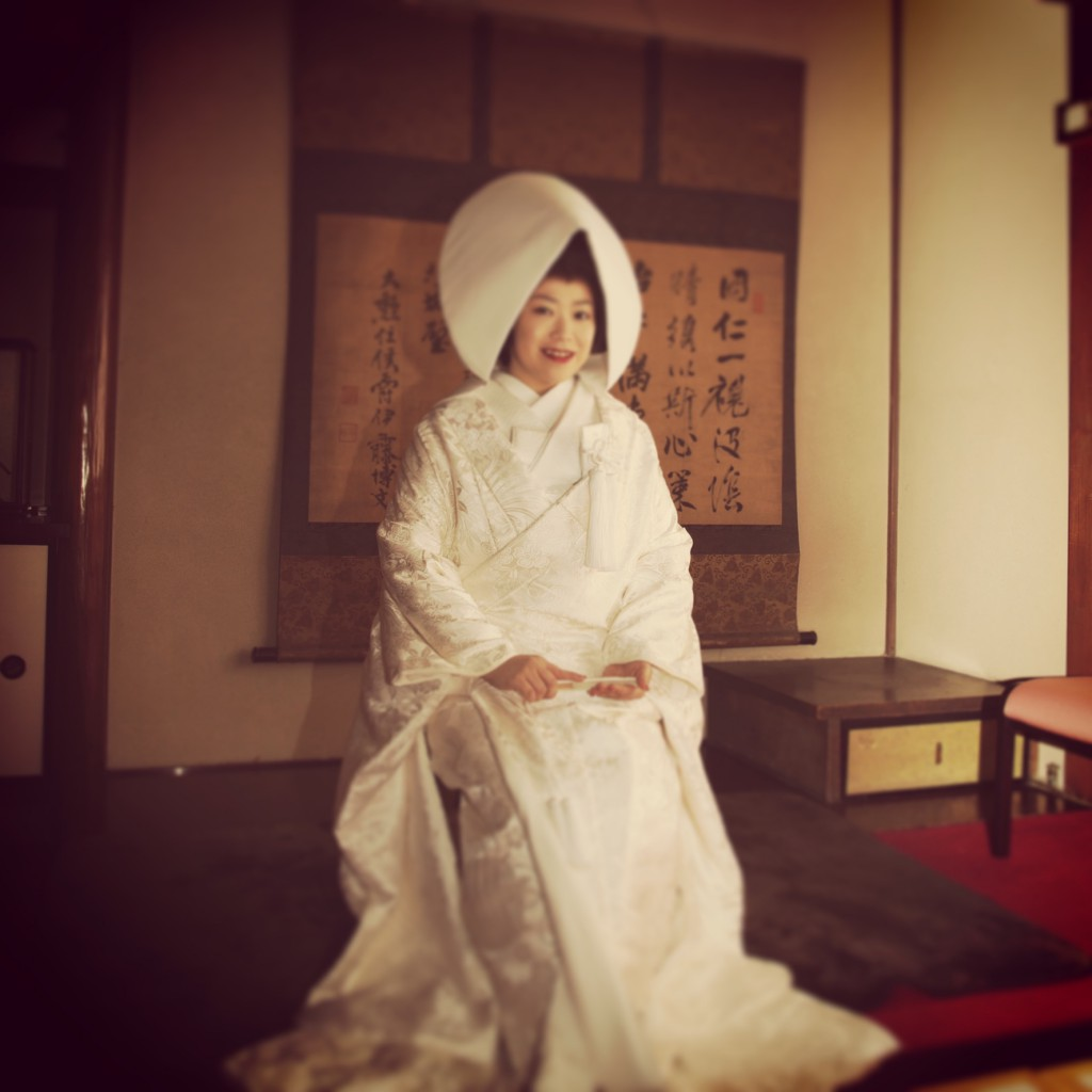 白無垢花嫁 綿帽子