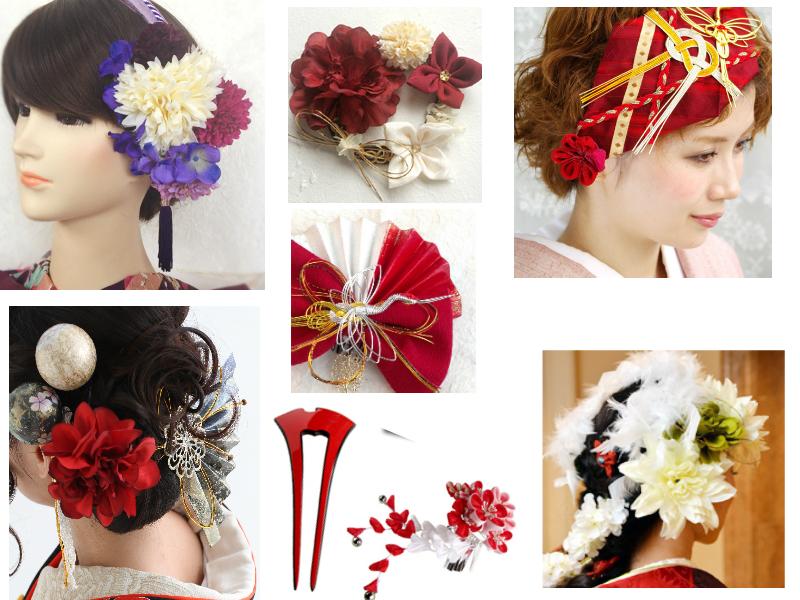 様々な種類の髪飾りの御紹介
