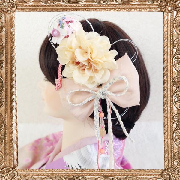 15-2モダンなハイカラレトロ鞠和細工飾り(恋する桜)