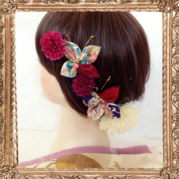大正ロマン蝶々 お蝶夫人の髪飾り