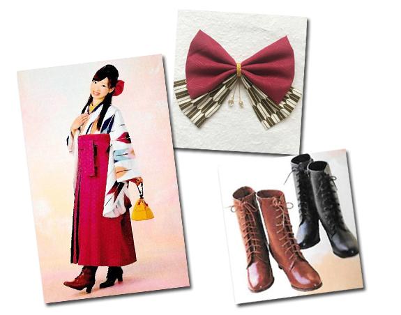 袴スタイルに合わせたハーフアップ
