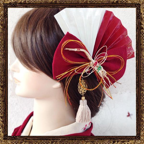 和装 髪飾り 結婚式(和婚)粋なはいから扇飾り【御祝いの日】