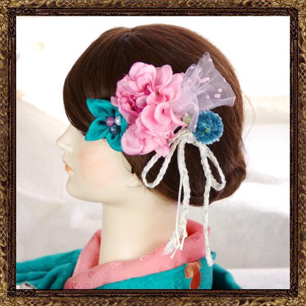 和装 髪飾り なでしこのおでかけ櫛コーム(乙女アンティーク)