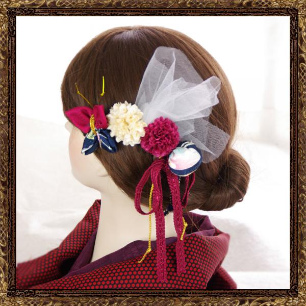 和装 髪飾り なでしこのおでかけ櫛コーム(乙女の祈り)