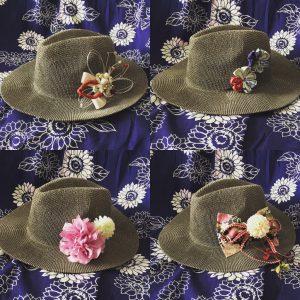 浴衣 髪飾り 帽子 帽子アレンジ