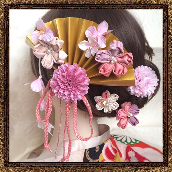 和装 髪飾り 成人式 粋なはいから扇飾り(SAKURASAKU)