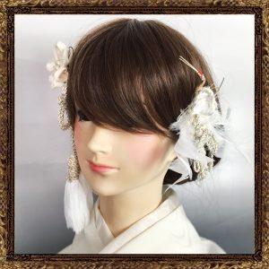 「寿ヘッドドレス 伝統和細工セット(飛翔)」