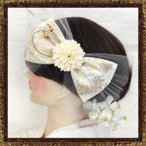 ふわりひらり大人のチュールリボン 純白の花嫁