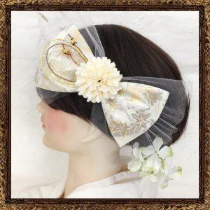 「ふわりひらり大人のチュールリボン 純白の花嫁」