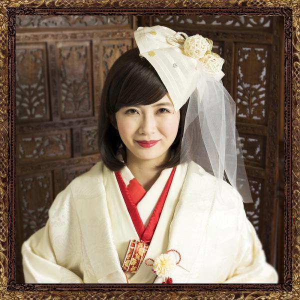 和装 髪飾り 結婚式(和婚)寿ヘッドドレス 大正ロマンベール