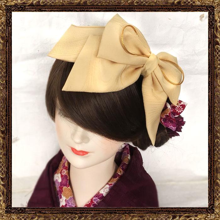 柄無し :和装 髪飾り 成人式 大正ロマン 清く美しリボンネ