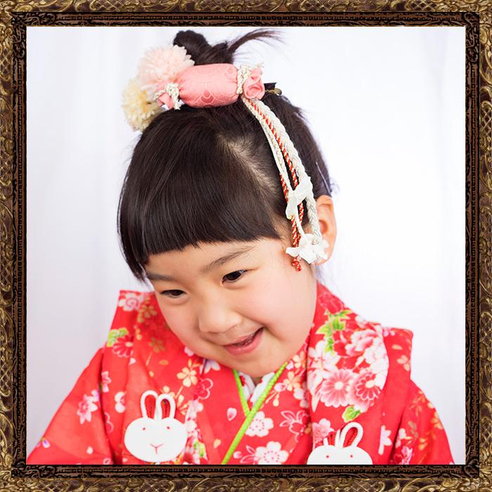 和装 髪飾り 七五三 小梅ちゃんの飴玉細工飾り 全3色