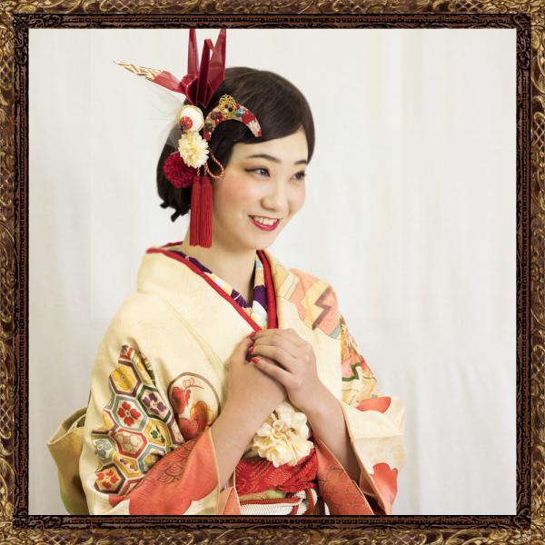和装 髪飾り 成人式 レトロモダンな鶴の旅立ち飾り