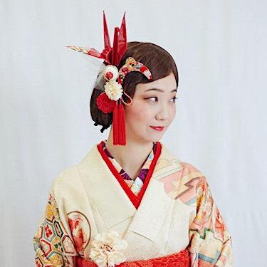 細かなモチーフ 商品:和装 髪飾り 成人式 レトロモダンな鶴の旅立ち飾り