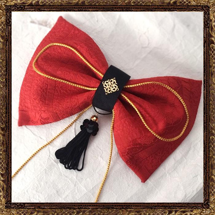 ■和装 髪飾り 成人式 はいからさんが恋する赤リボン