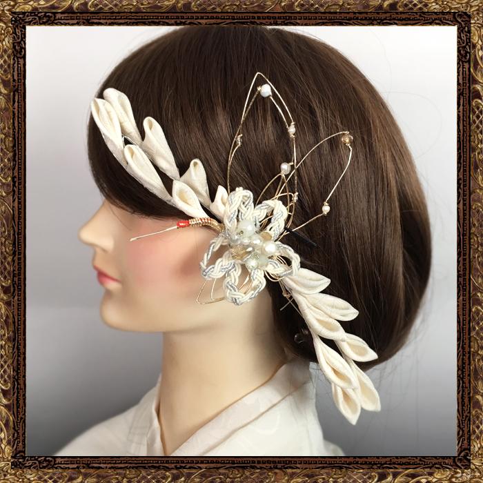 和装 髪飾り 結婚式(和婚)寿ヘッドドレス 清く美し鶴姫の舞