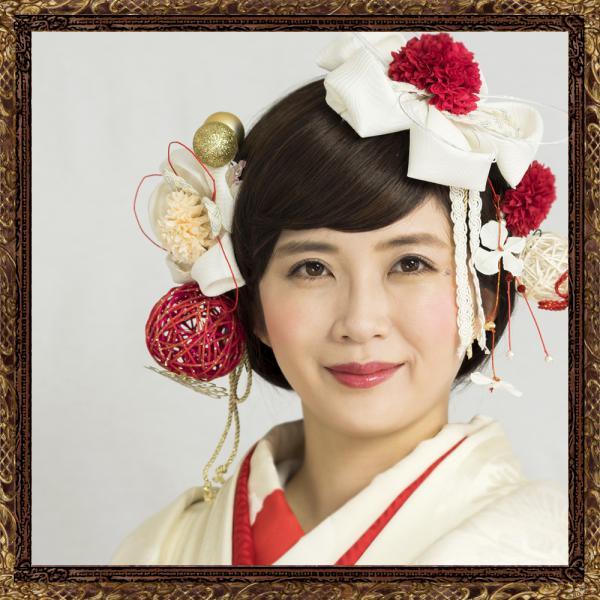 和装 髪飾り 結婚式(和婚)寿ヘッドドレス 純白花嫁の花咲く飾り