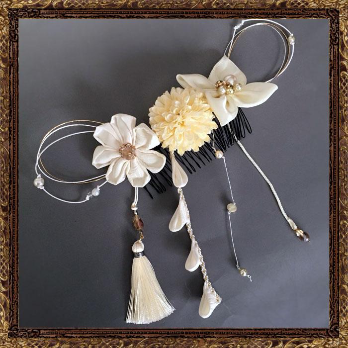 純白の花嫁の美しだれ細工