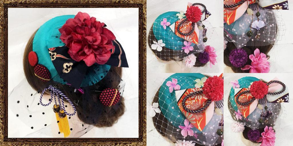 和装 髪飾り 成人式 大正ロマントーク帽