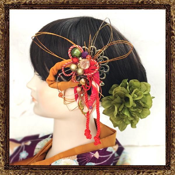 和装 髪飾り 成人式 大人の和細工ビジューかんざし(レトロアンティーク)