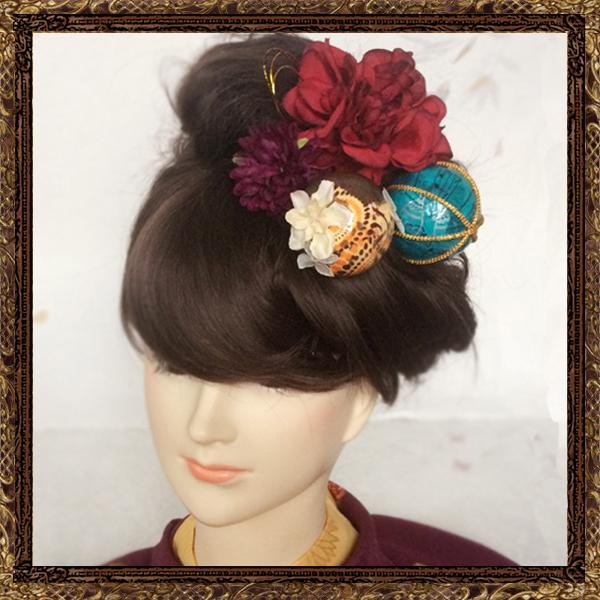 和装 髪飾り 成人式 乙女の恋するレトロ鞠セット