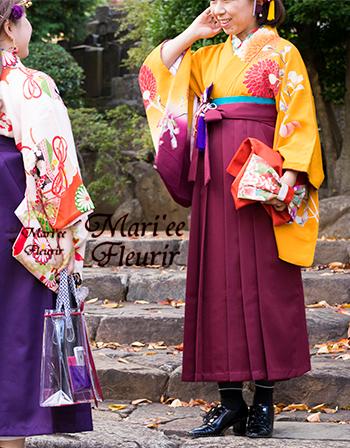 「海老茶(えんじ)色」の袴スタイル