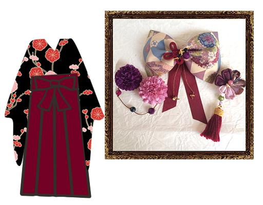 和装 髪飾り 結婚式(和婚)大人なアンティークリボンの京美人飾り (はんなり和柄