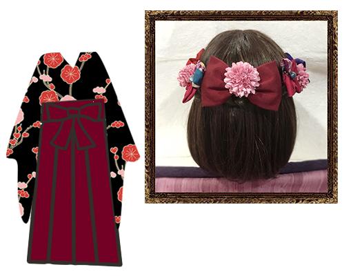 和装 髪飾り 卒業式 はいからさんが恋する乙女の飾り
