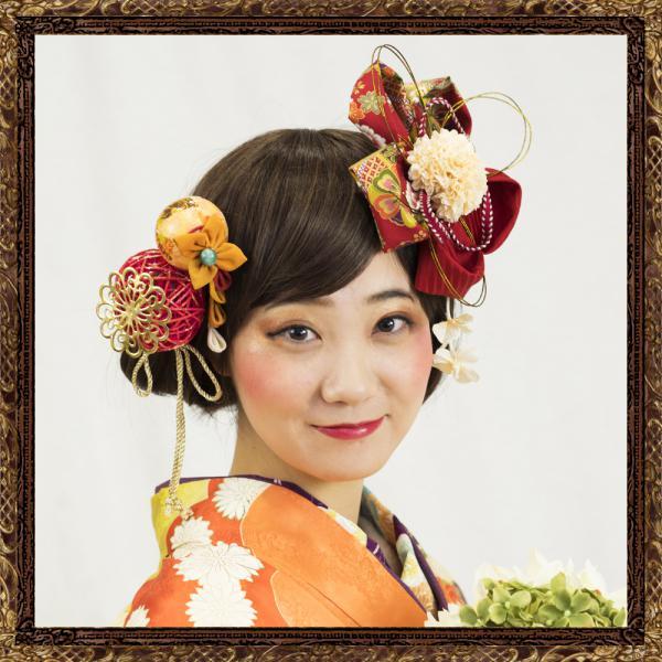 和装 髪飾り 成人式 レトロモダンな大人の花咲く飾り