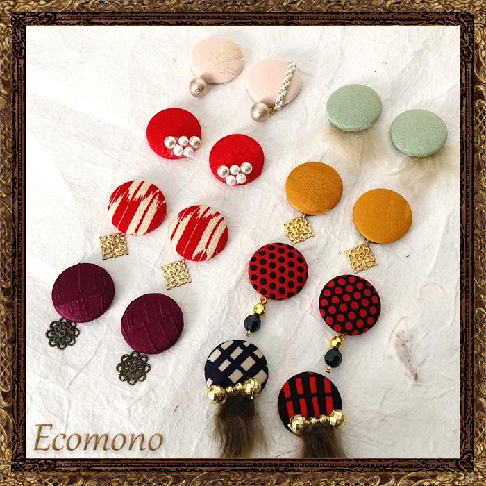 東京 鎌倉 和小物 和雑貨 Ecomono耳飾り/帯飾り (2way)