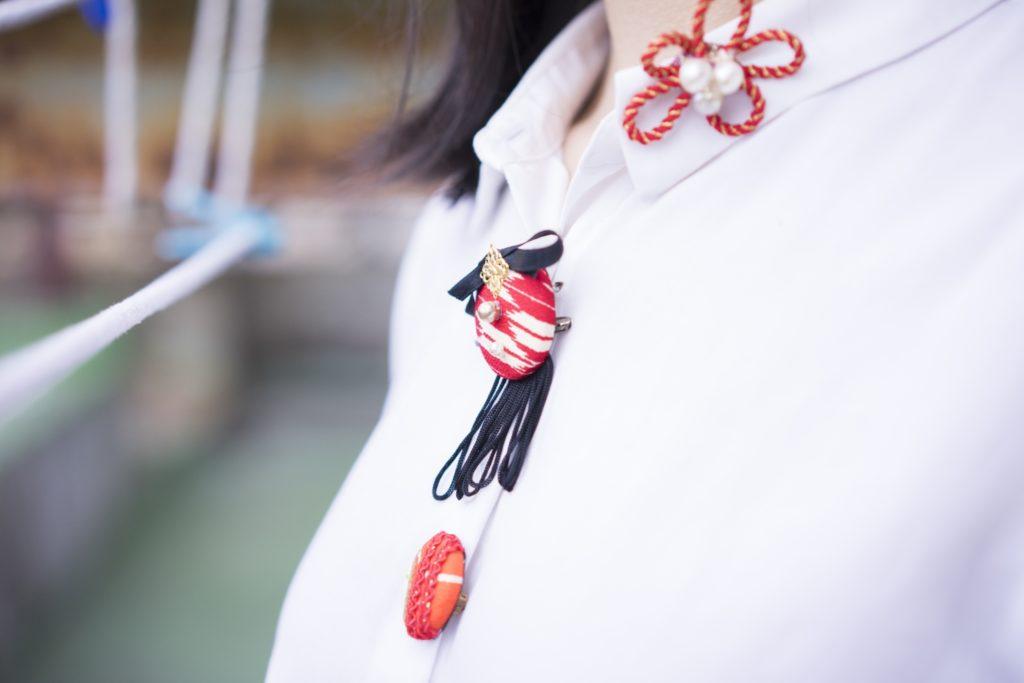 洋服×和小物で和洋折衷コーディネート