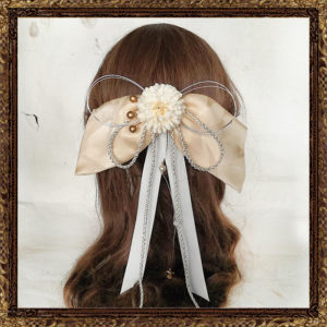 和装 袴 髪飾り 卒業式 はいからさんの乙女しだれリボン(春雪の君)