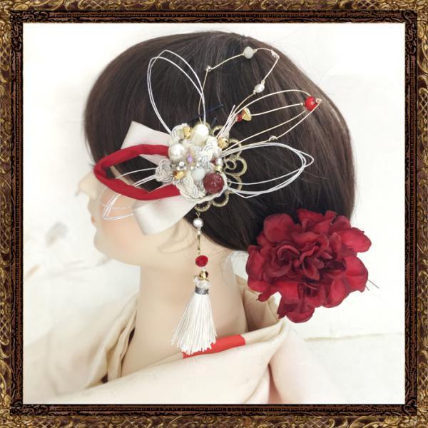 和装 髪飾り 結婚式(和婚)大人の和細工ビジューかんざし(御祝いの日)