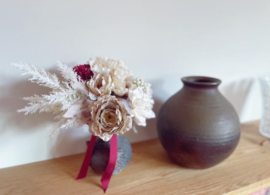 花束 ブーケ スワッグ 大正ロマンブーケ 彩の花